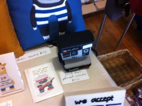 Hand sewn Polaroid