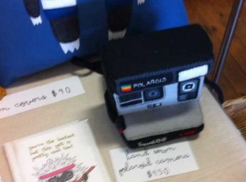 Hand sewn Polaroid Camera