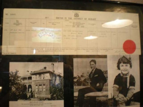 Errol Flynn Birth Certificate