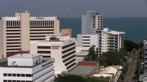 View above Darwin Plaza and the main shopping precinct.