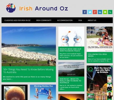 Irish Around Oz Blog
