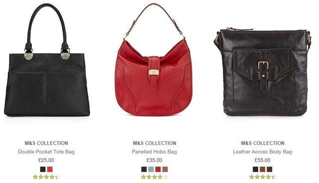 m & s handbags