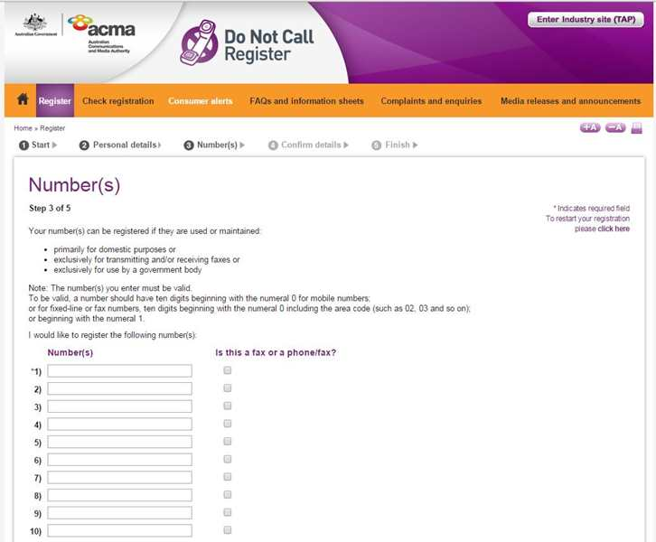 how to get your phone number off call lists australia