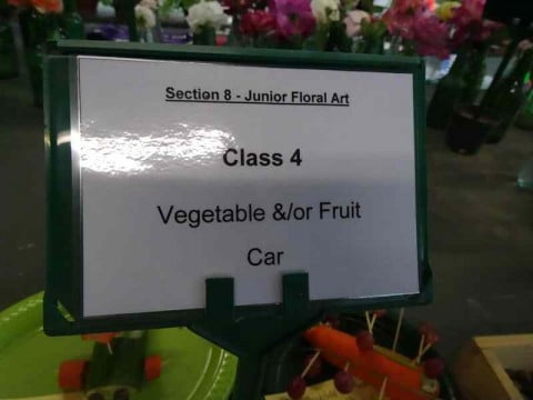 Vegetable or fruit car