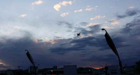 Hornet over Brisbane