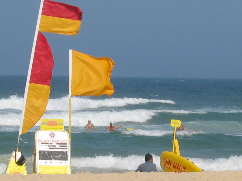 Swim Between the Flags in Australia and Beware of Rip Currents