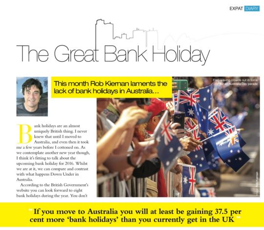 Australian Public Holidays and British Bank Holidays Compared on