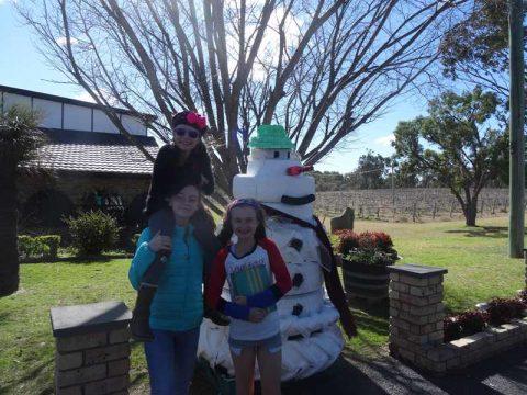 fake snowman