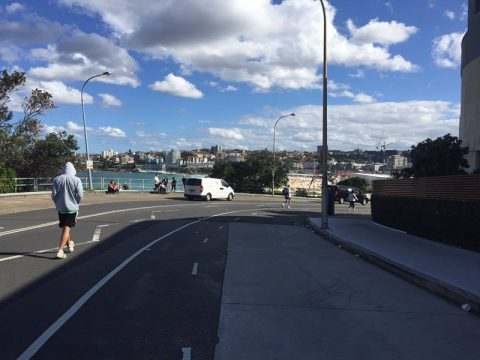 Approaching Bondi Beach