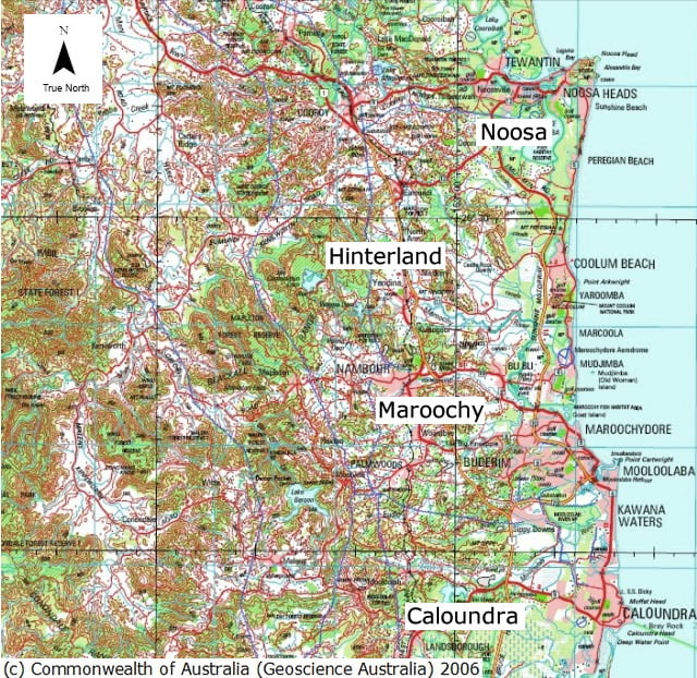 Sunshine Coast Map