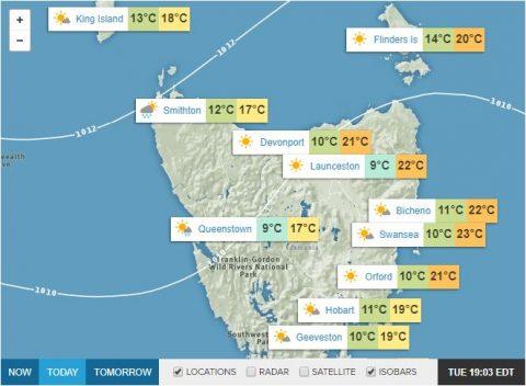 Tasmania weather